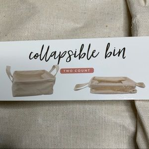 NWT Target Two Count Collapsible Bin in Natural